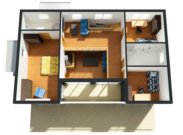 Diseno casas de 3 dormitorios