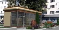 Торговый павильон 24.75 кв.м сэндвич-панель