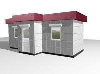 Торговый павильон 27 кв.м из сэндвич-панелей