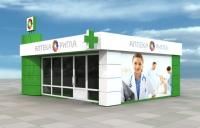 Аптека 48 кв.м, внутренняя отделка ПВХ