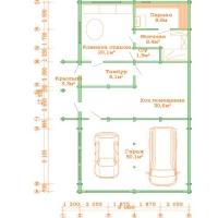 Дачный дом 158.55 м.кв  внутренняя отделка Вагонка