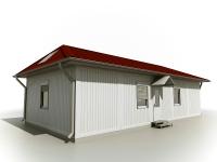 Дачный домик 75.6 м.кв (12х6.3х3.1м) внутренняя отделка ПВХ