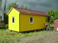 Дачный дом 24.5 м.кв  внутренняя отделка Вагонка