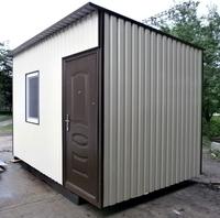 Блок-контейнер 4.0x2.4x2.5м, внутренняя отделка ПВХ