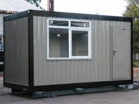 Блок-контейнер 4.0x2.4x2.5м, внутренняя отделка ЛДСП (бытовка 4-х метровая)