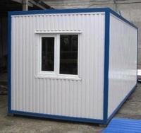 Блок-контейнер 6.0x2.4x2.5м, внутренняя отделка ПВХ (прорабка )