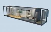 Дачный домик 21,6 м.кв (9х2,4х2,5м) внутренняя отделка Вагонка
