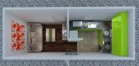 Дачный домик 19,2 м.кв (8х2,4х2,5м) внутренняя отделка Вагонка