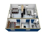 Дачный домик 57,6 м.кв (8х7,2х3м) внутренняя отделка Вагонка