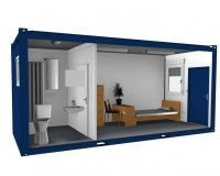 Дачный домик 16,8 м.кв (7х2,4х2,5м) на базе блок контейнеров внутренняя отделка ПВХ