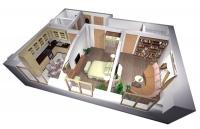 Дачный домик 42 м.кв (7х6х2,5м) на базе блок контейнеров внутренняя отделка Вагонка