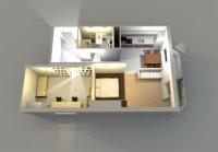 Дачный домик 76,8 м.кв (9,6х8х2,8м) на базе блок контейнеров внутренняя отделка Вагонка