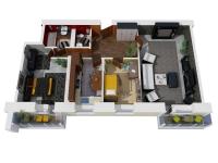 Дачный домик 66 м.кв (11х6х2,5м) на базе блок контейнеров внутренняя отделка Вагонка
