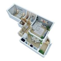 Дачный домик 53,75 м.кв (10х7х2,5м) на базе блок контейнеров внутренняя отделка ПВХ