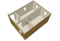 Дачный домик 33,6 м.кв (7х4,8х2,5м)  внутренняя отделка ПВХ