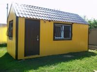 Дачный домик 18 м.кв (6х3х3,1м) на базе блок контейнеров внутренняя отделка Вагонка