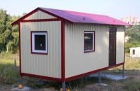 Дачный домик 14,4 м.кв (6х2,4х2,5м) на базе блок контейнеров внутренняя отделка Вагонка
