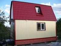 Дачный домик 62 м.кв (6х7х5м)  из металла внутренняя отделка ПВХ