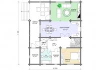 Дачный домик 141,24 м.кв (13,2х10,7х3м)  внутренняя отделка ПВХ