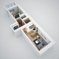 Дачный домик 28,8 м.кв (12х2,4х2,5м) на базе блок контейнеров внутренняя отделка ПВХ