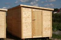 Бытовка деревянная 5.8x2.3x2.5м, внутренняя отделка ДВП (Бытовка деревянная от производителя)
