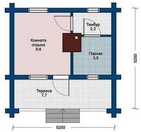 Баня 5,250х5,250х2,5м (баня на металлическом каркасе 27,56 м.кв)