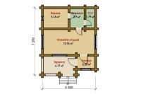 Баня 5,5х7,2х2,5м (баня на металлическом каркасе 5,5х7,2х2,5 СПБ от производителя)