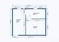 Баня 4х5х2,5м (баня на металлическом каркасе 4х5х2,5)