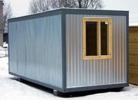 Блок-контейнер 6.0x2.4x2.5м, внутренняя отделка ДВП (вагончик из металла)