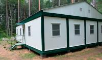 Дачный домик 96 м.кв (10х9,6х4м) на базе блок контейнеров внутренняя отделка Вагонка