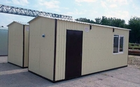 Блок-контейнер 6.0x2.4x2.5м, внутренняя отделка ПВХ (бытовка из металла)