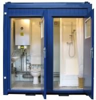 Зимняя душевая и туалет 2,4х2,5х2,5м сэндвич-панели