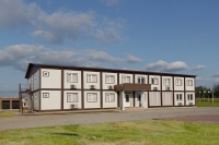 Гостиница из блок-контейнеров 24x14x5м (672 кв.м) из сэндвич-панелей
