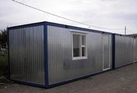 Блок-контейнер 5.8x2.4x2.5м, внутренняя отделка ДВП (строительная бытовка)