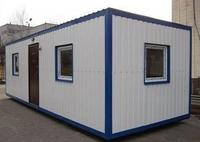 Блок-контейнер 8.0x2.4x2.5м, внутренняя отделка МДФ (блок-контейнер для офиса)