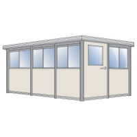 Торговый павильон 8.75 м.кв из сэндвич-панелей