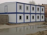 Строительный городок на 192 кв.м (12х8х6м) внутренняя отделка ДВП