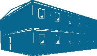 Строительный городок на 403,2кв.м (14х14,4х6м) внутренняя отделка ДВП