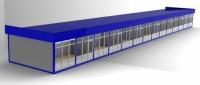 Рынок из сэндвич-панелей  33,6х5х3 (168 кв.м)