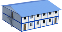 Общежитие 14.4х14х6 . Внутренняя отделка МДФ. (403.2 кв.м)