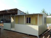 Дачный домик 28 м.кв на базе блок контейнеров внутренняя отделка Вагонка