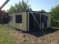 Дачный домик 28,8 кв.м.на базе блок контейнеров внутренняя отделка МДФ