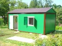 Дачный домик 18 кв.(3х6х2.8) из металлического каркаса внутренняя отделка Вагонка