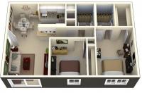 Дачный домик 43,2 м.кв (7,2х6х2,8м) на базе блок контейнеров внутренняя отделка ПВХ