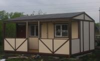 Дачный домик 28.8 м.кв  внутренняя отделка Вагонка