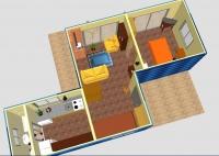 Дачный домик 28,8 кв.м. внутренняя отделка Вагонка
