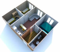 Дачный домик 50,4 кв.м. внутренняя отделка МДФ