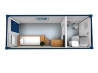 Дачный домик 16,8 кв.м. на базе блок контейнеров внутренняя отделка Вагонка
