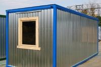 Блок-контейнер 5.8x2.4x2.5м, внутренняя отделка ДВП (бытовка для рабочих )