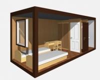 Дачный домик 16,8 кв.м.внутренняя отделка МДФ